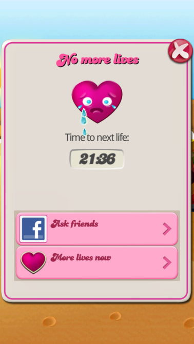 candy crush saga no more lives
